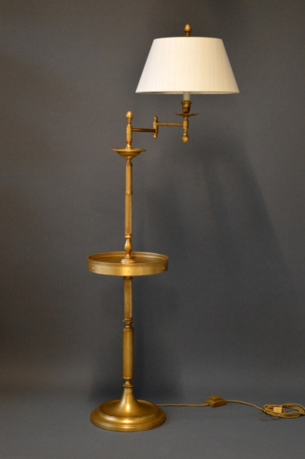 Lamps The Classic Swing Arm Floor Lamp Drinks Table