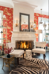 Showroom, fire place. 1