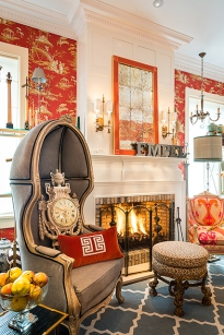 Showroom, fire place. 2