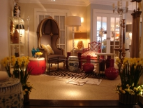 Showroom vignette with canopy chair