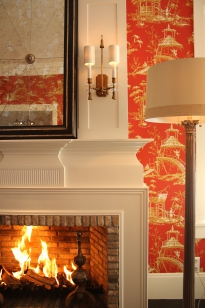 Showroom, fire place