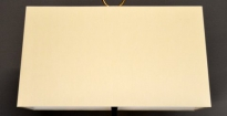 Op maat gemaakte rechthoekige lampenkap off white chintz simple trim