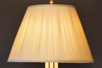 Zijden lampenkap handgemaakt met platte ploo